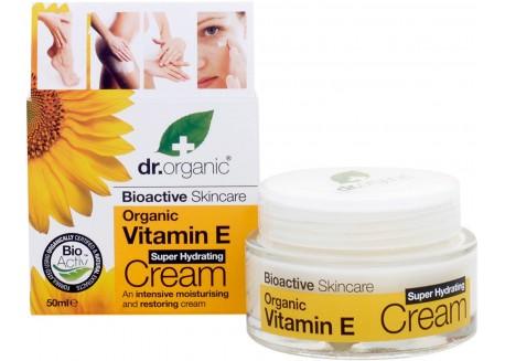 dr.organic Super Hydrating Cream με βιταμίνη Ε 50 ml