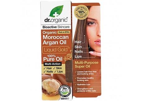 dr.organic Liquid Gold 100 % Pure Oil με βιολογικό έλαιο αργκάν