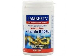 Lamberts E 400 IU Natural 180 tabs