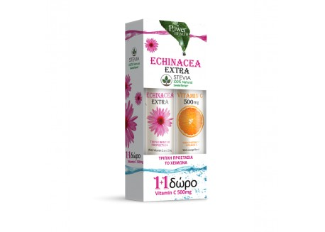 Power Health Echinacea Extra με Στέβια 24 αναβρ.δισκ & Vitamin C