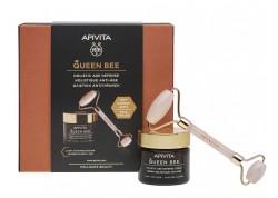 APIVITA Queen Bee Κρέμα Ημέρας Ελαφριάς Υφής & ΔΩΡΟ Face Roller