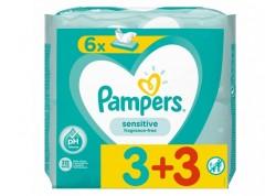 Pampers Μωρομάντηλα 52 τμχ (3+3)