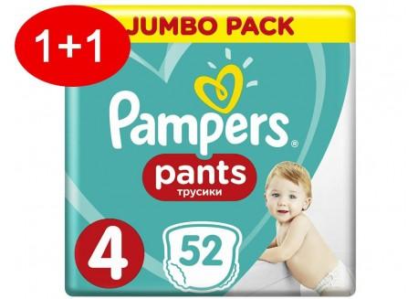Pampers Pants N.4 52 τμχ Jumbo Πάνες-βρακάκι